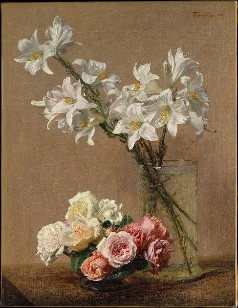 ดอกไม้ในงานศิลปะ Roses and Lilies