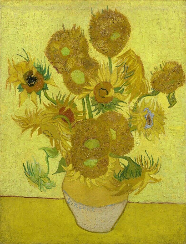 ดอกไม้ในงานศิลปะ sunflowers by Vincent van Gogh